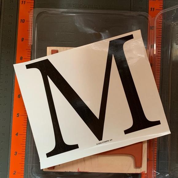 Stampin' Up! MONOGRAM M
